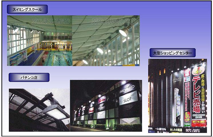 設置事例≪高輝度照明(水銀灯・HID)≫ 投光器タイプ